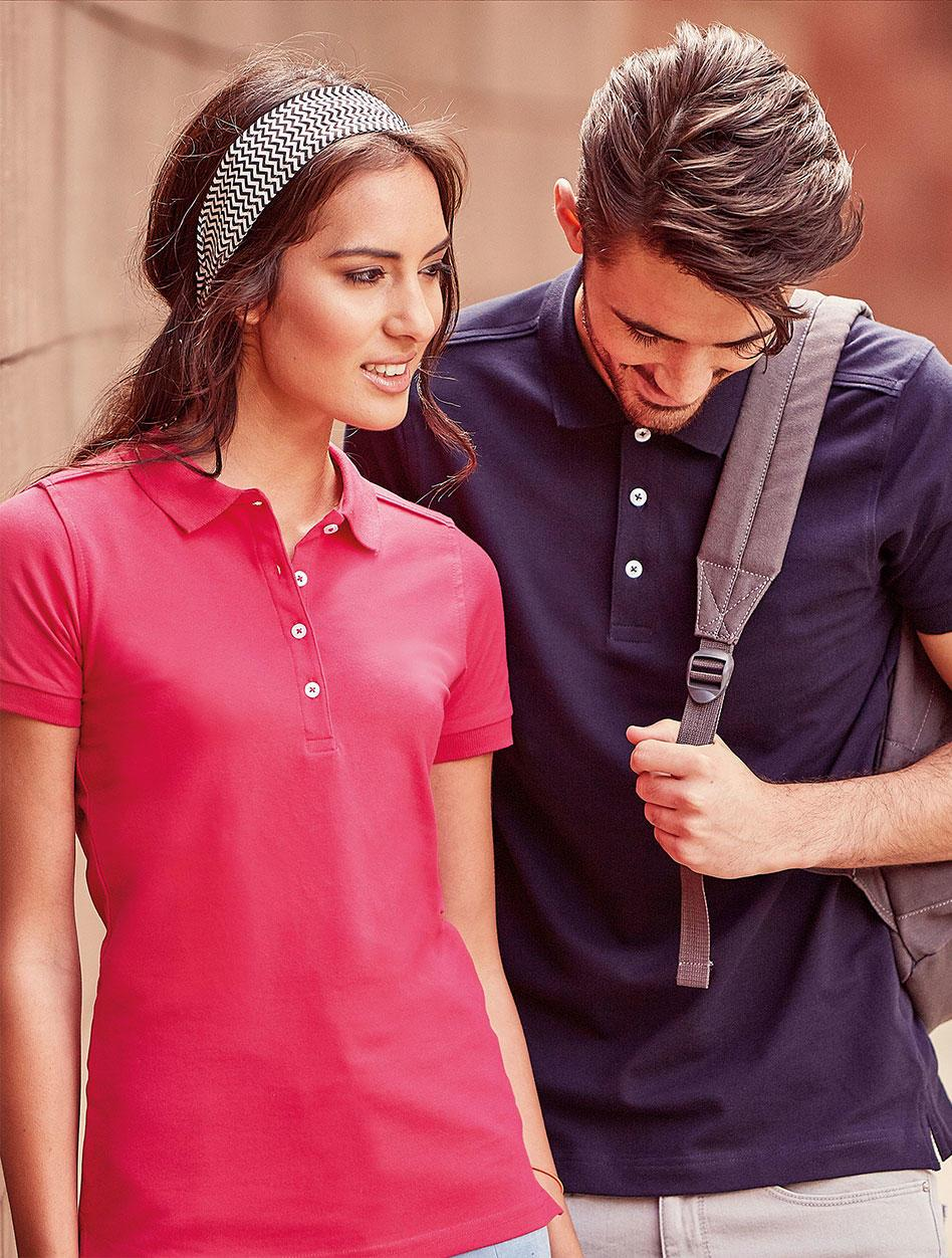 men's and ladies stretch polo shirt