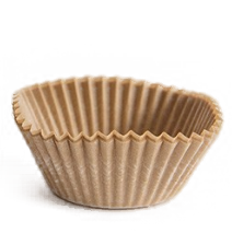 stack of natural brown baking cup cases