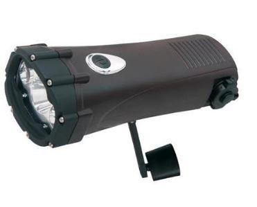 black heavy duty wind up led torch