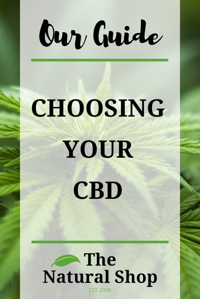 Our Guide to Choosing Your CBD