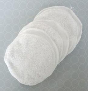 4 white terry cotton round 4inch washable pads