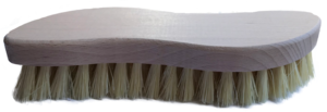 side few of light coloured beech wood brush natural coloured cream bristles