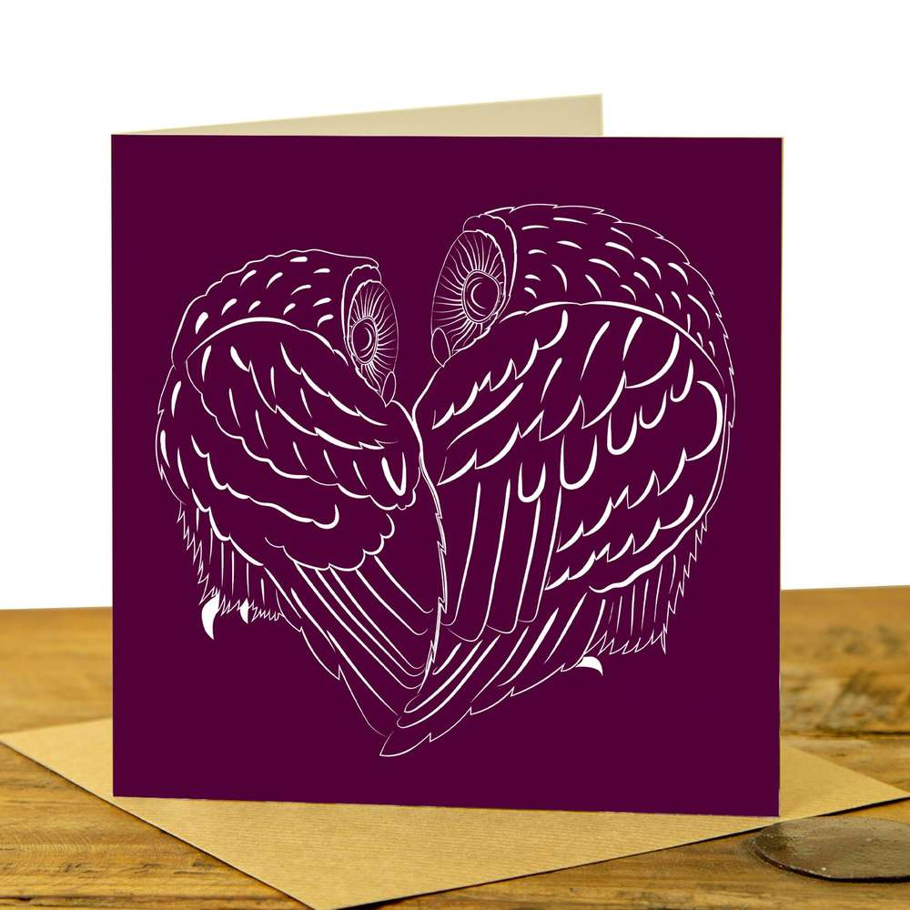 Owl Card  - Owl Partners on Claret