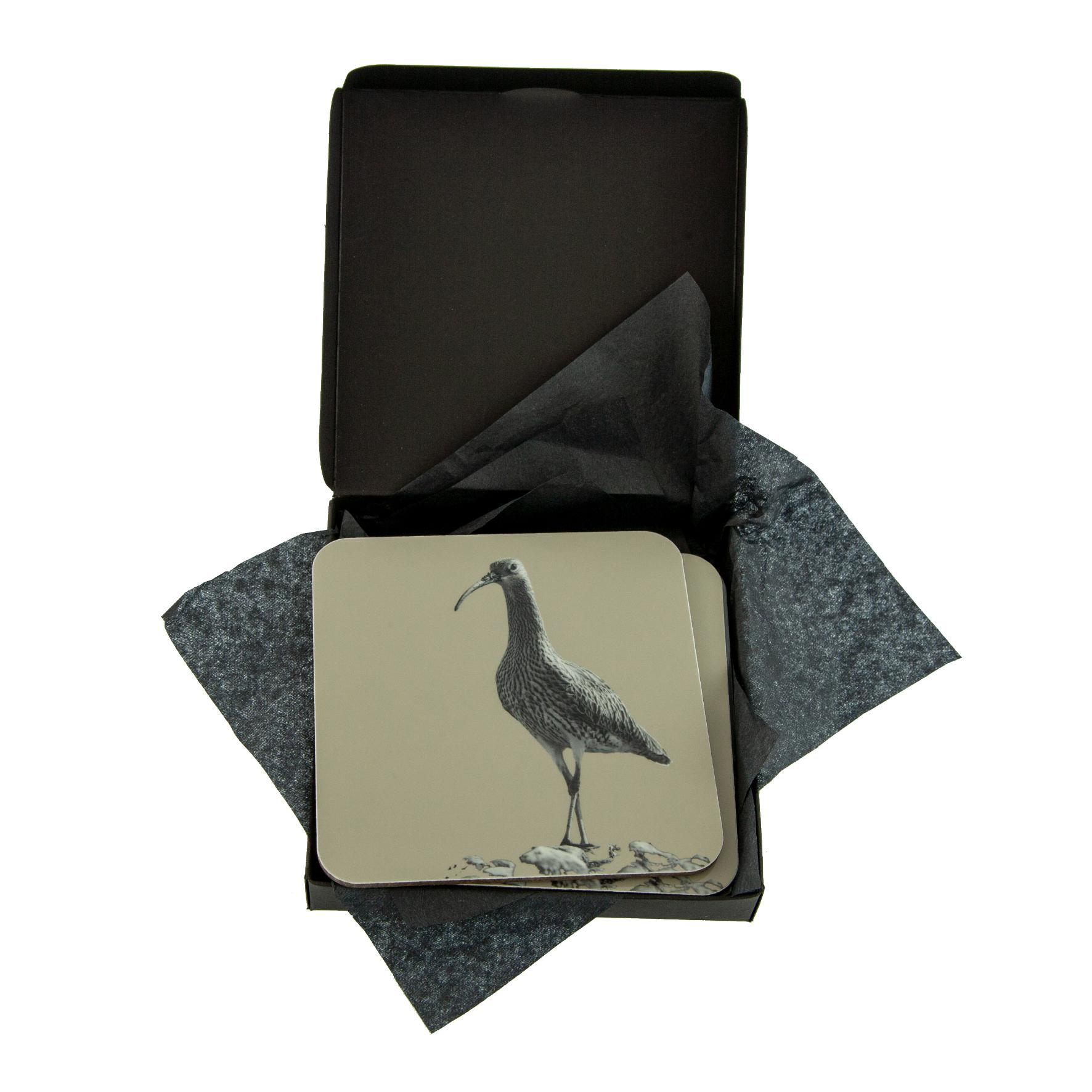 Curlew Coaster on Sand Grey