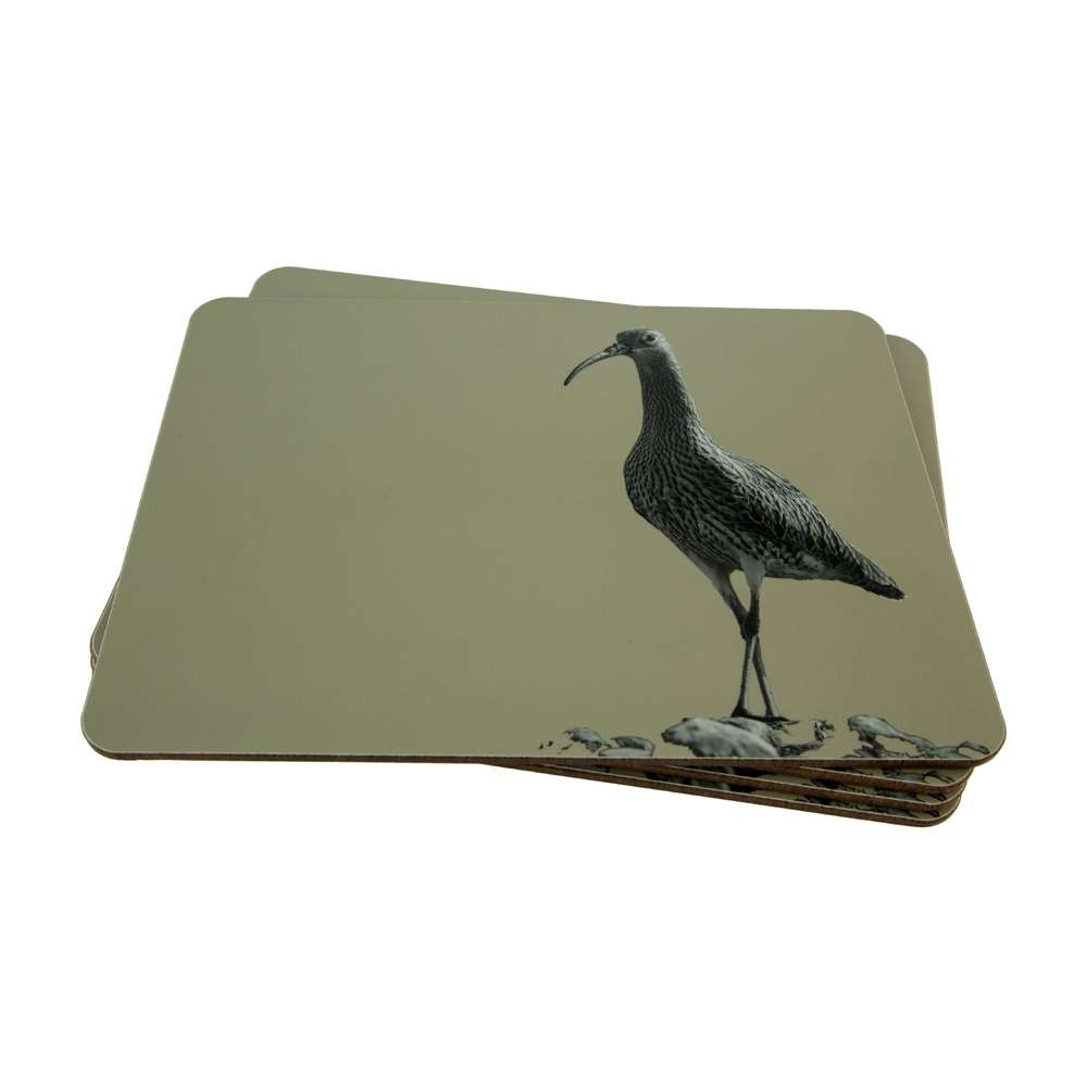 Curlew Placemat on Sand Grey