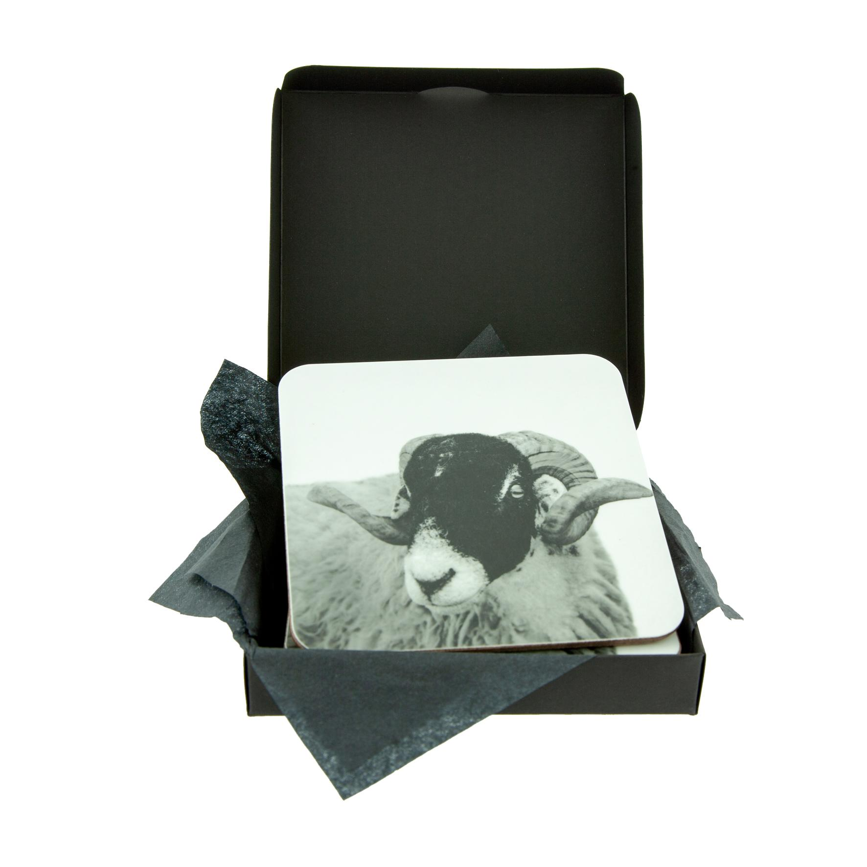 Swaledale Sheep Coaster