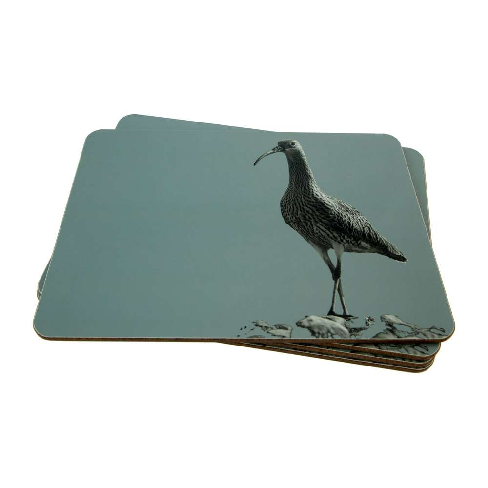 Curlew Placemat on Pale Blue