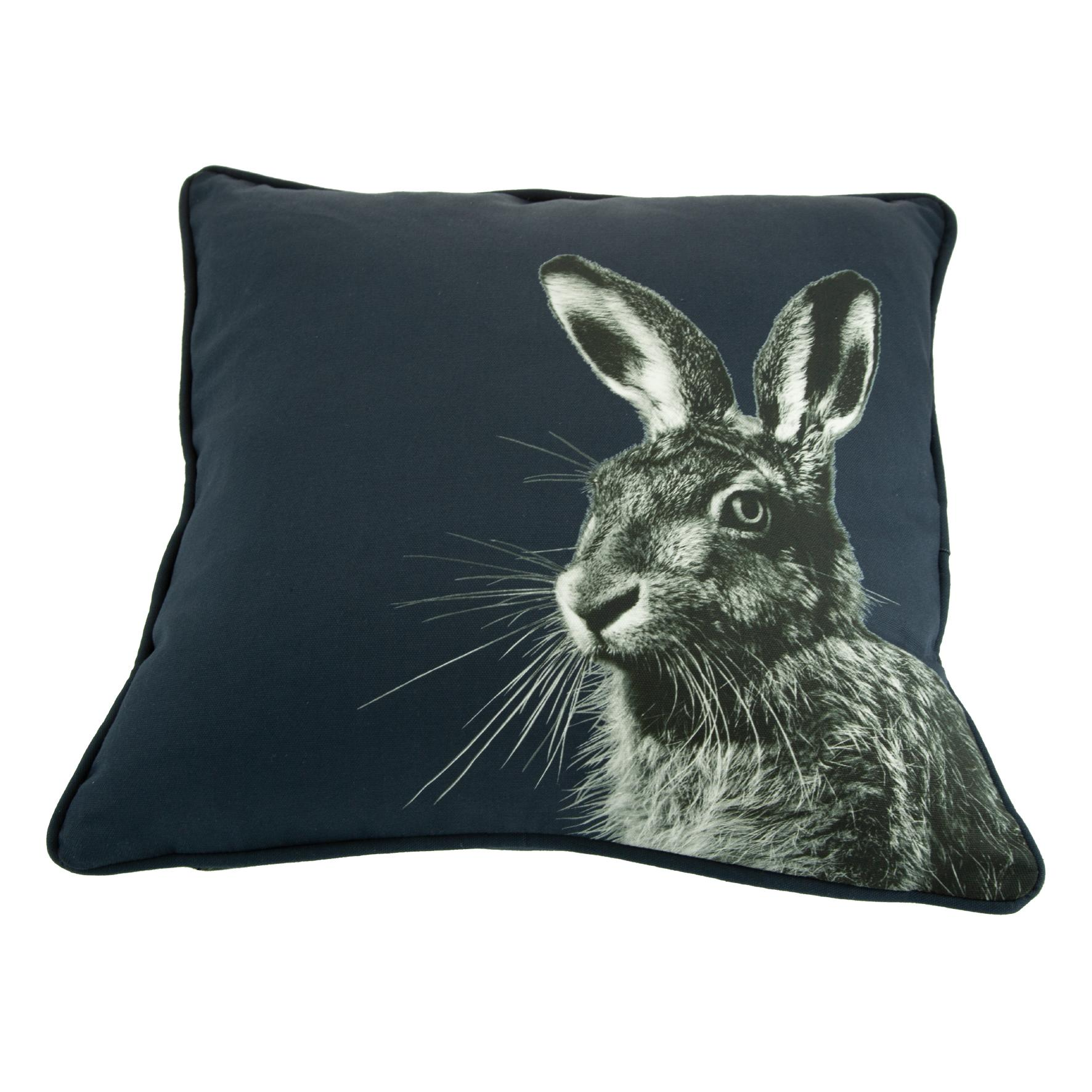 Hare Cushion on Blackberry