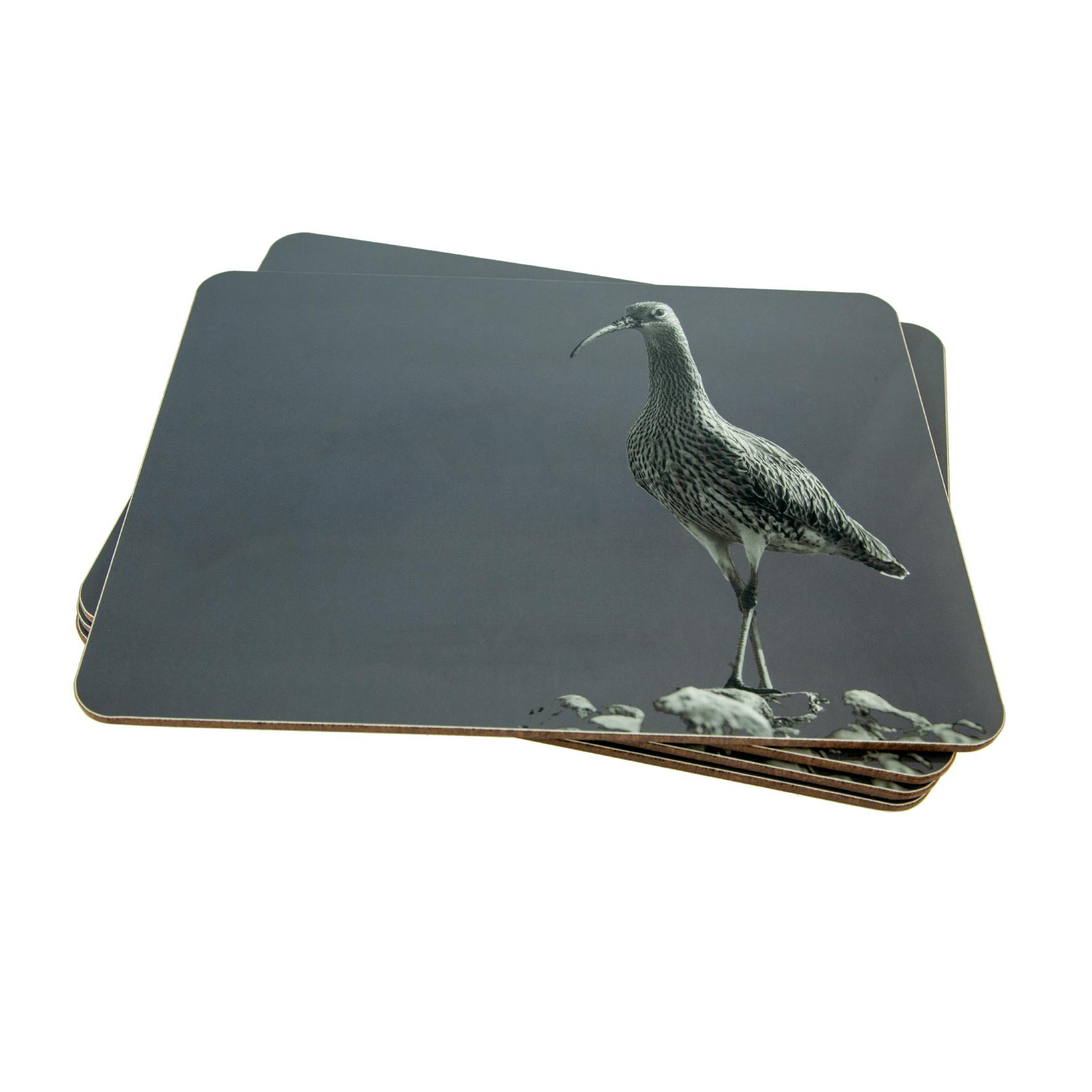 Curlew Placemat on Charcoal