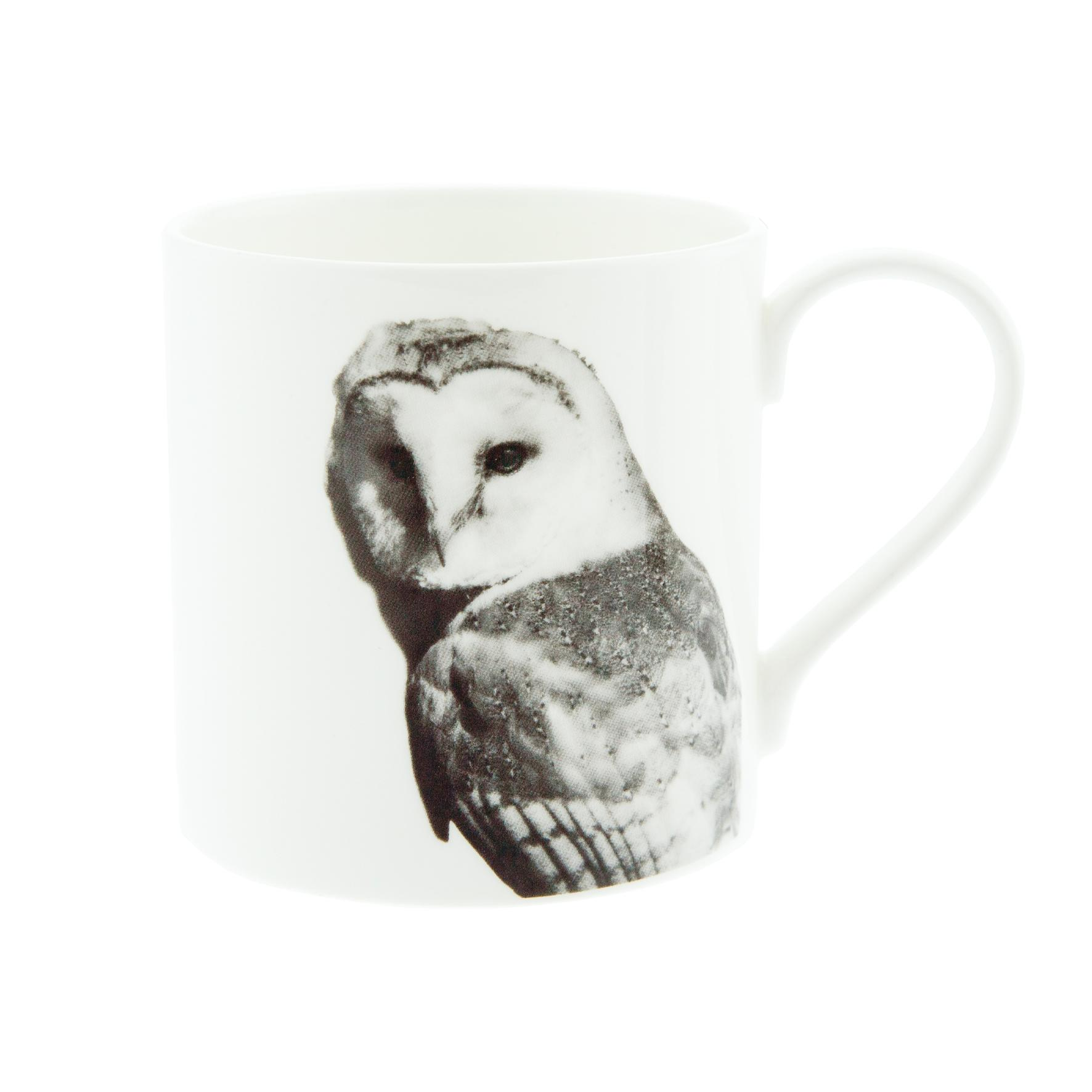 Barn Owl Fine Bone China Mug White