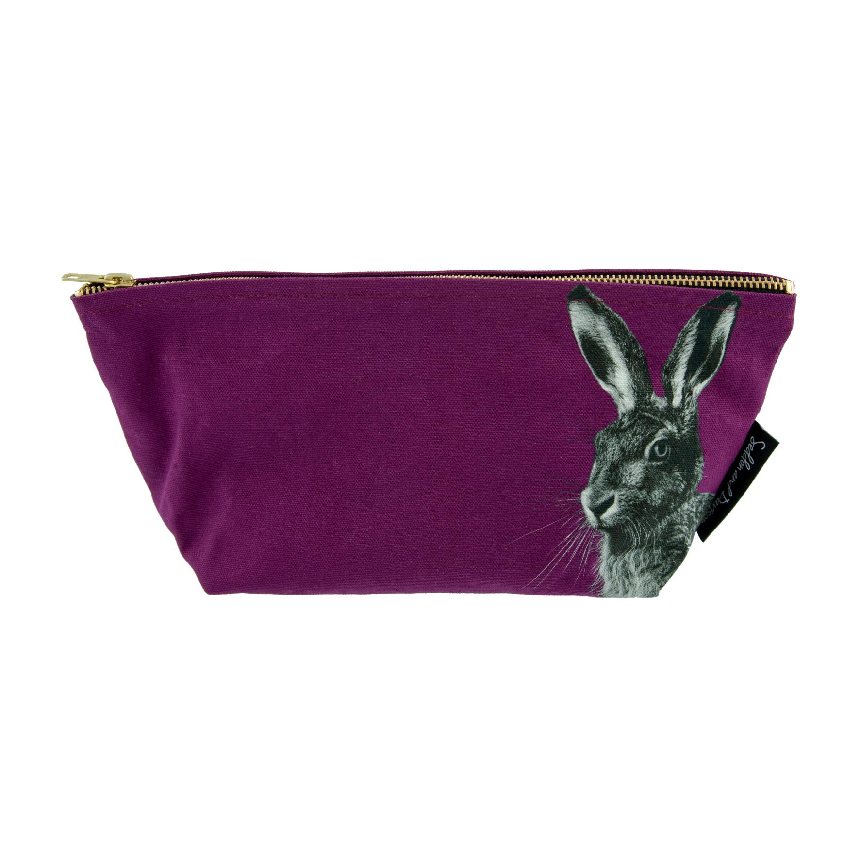 Hare Wash Bag on Claret