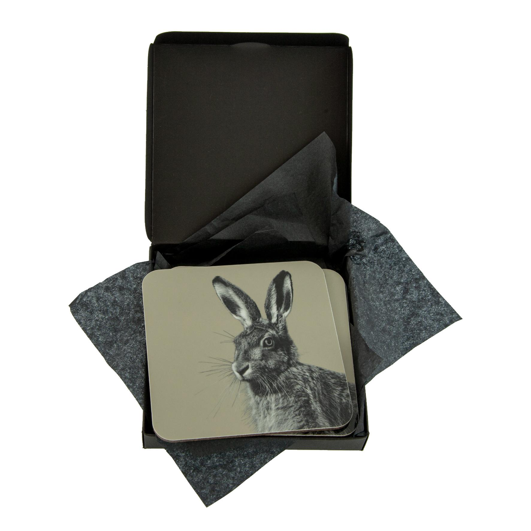 Hare Coaster on Sand Grey
