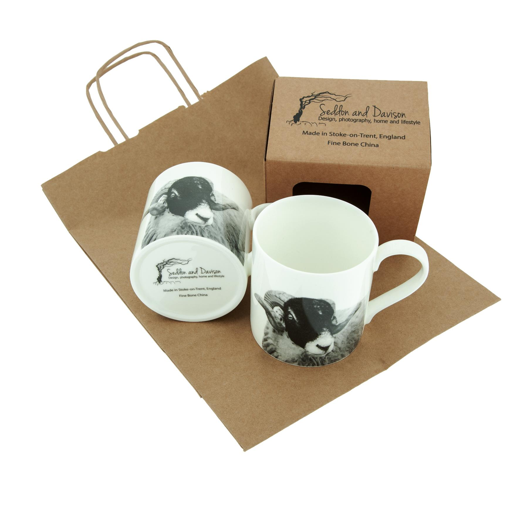 Swaledale Sheep Large Fine Bone China Mug