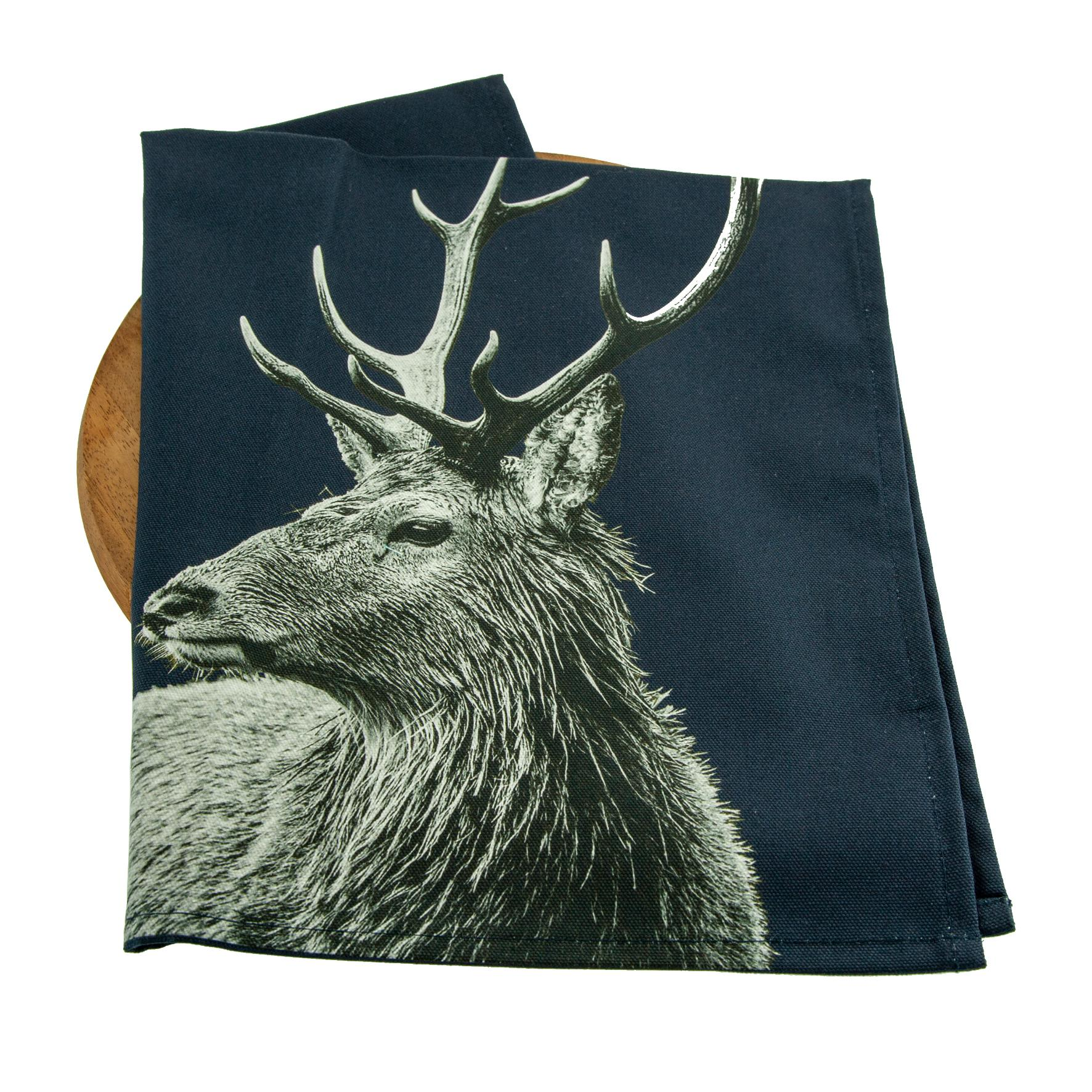 Highland Stag Tea Towel on Blackberry