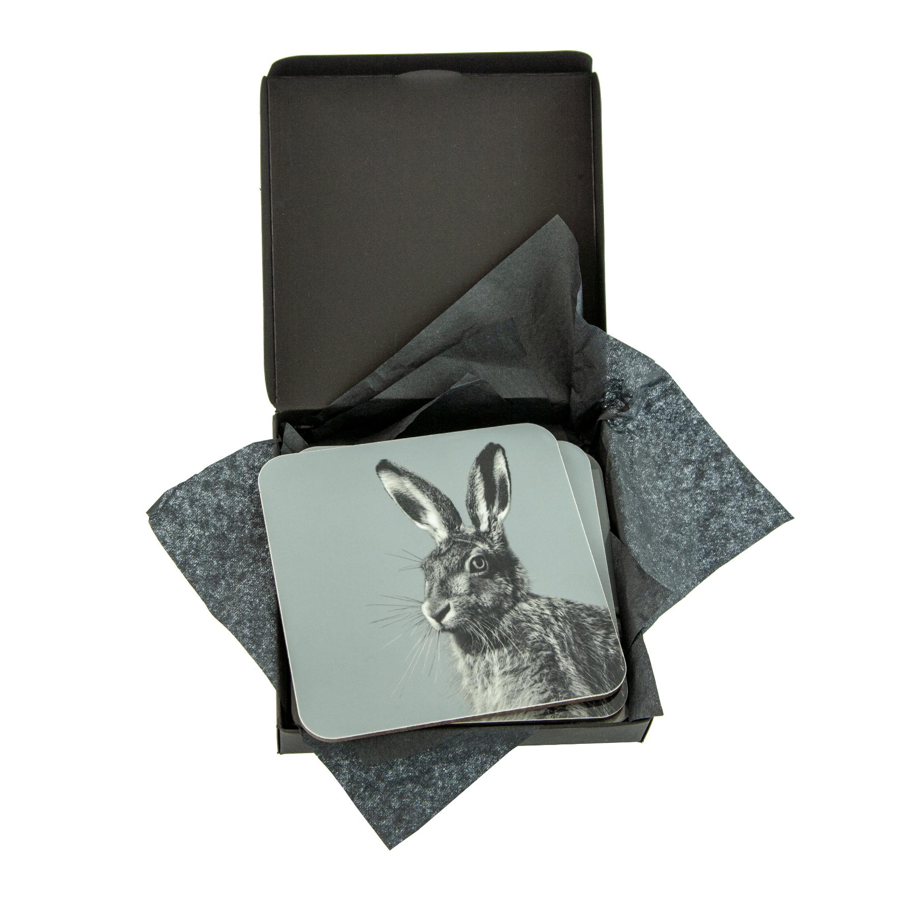 Hare Coaster on Pale Blue