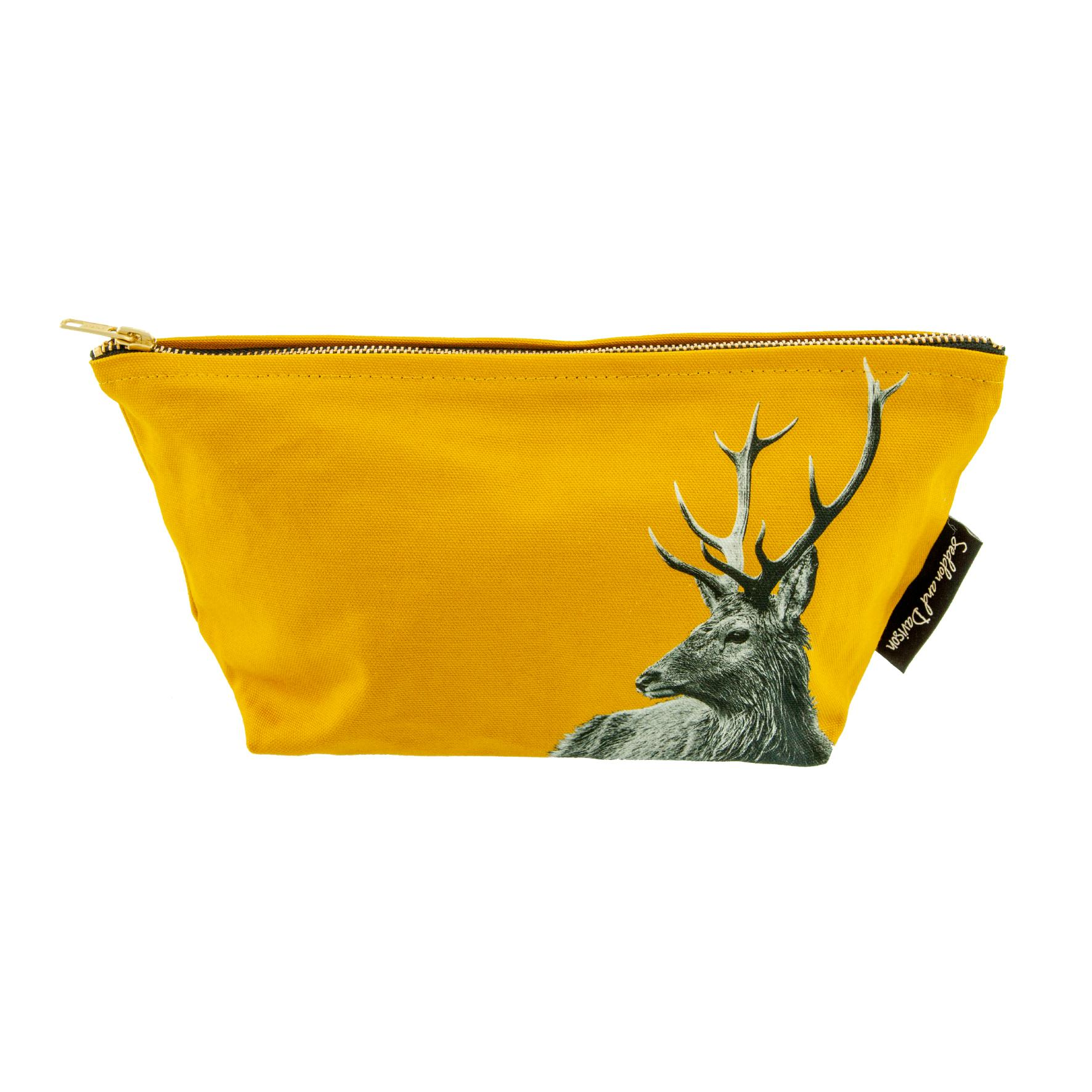 Stag Wash Bag on Mustard