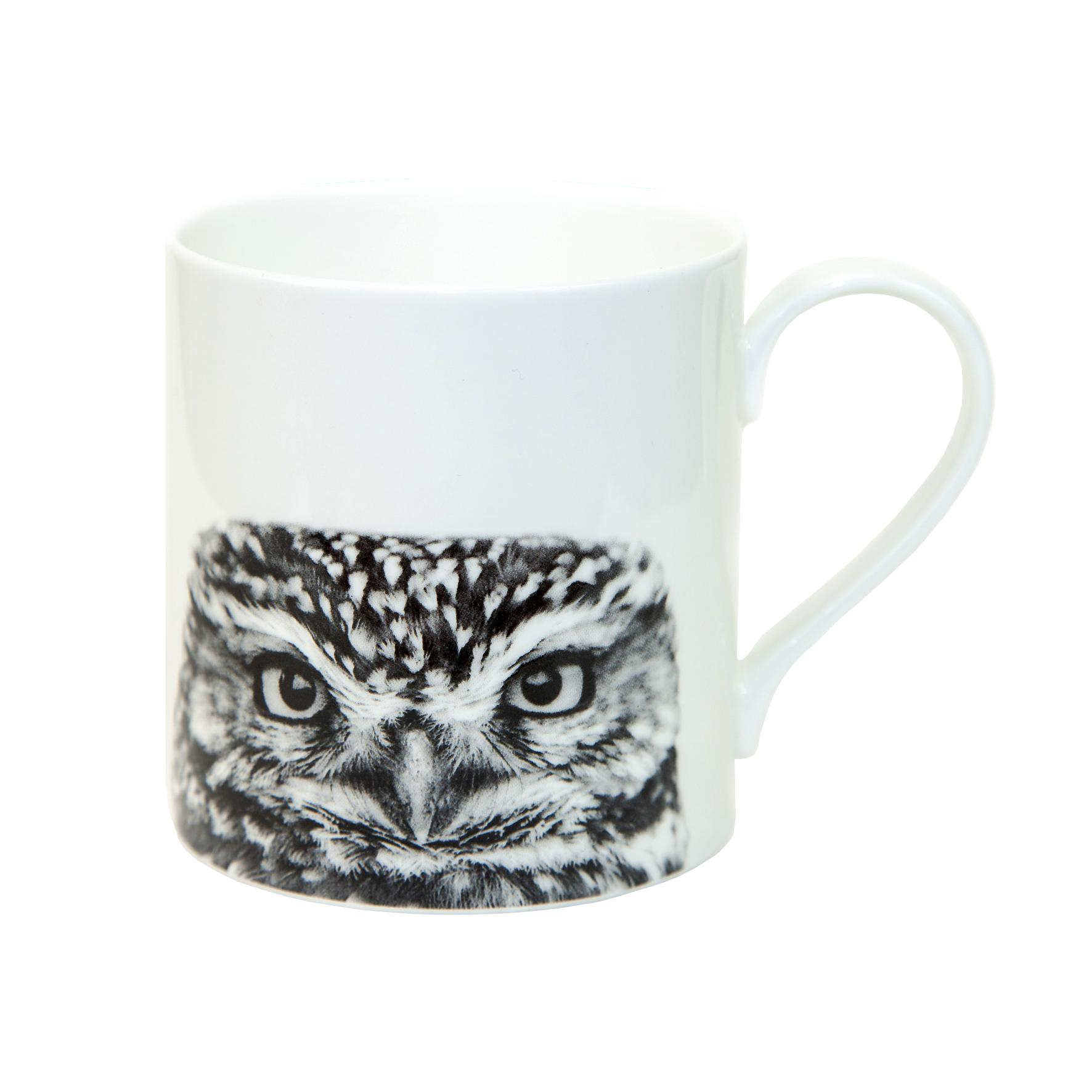 Little Owl Fine Bone China Mug White