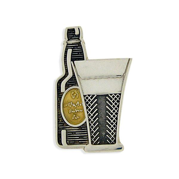 Bottle of Stout tie pin SM2
