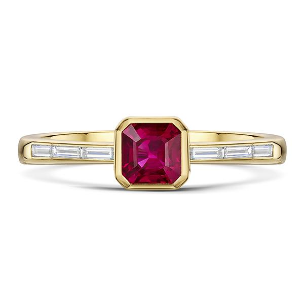 Ruby & diamond ring 5591