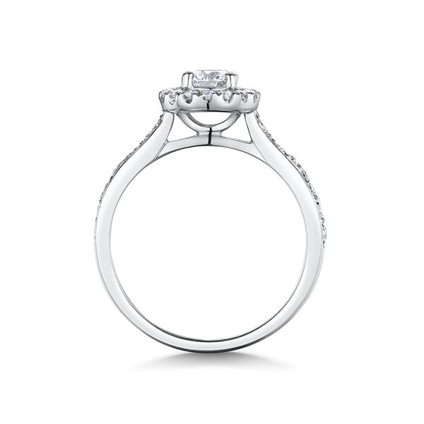 0.81ct platinum halo ring 4294