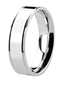 Flat comfort fit profile wedding band