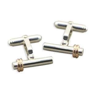 Silver bar cufflinks CL15