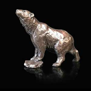 Polar Bear - Miniature Bronze Sculpture - Butler & Peach 2091