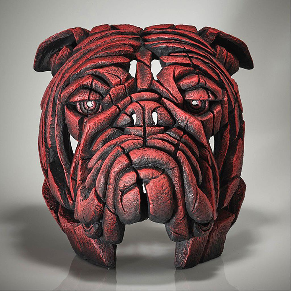 Bulldog Bust - Tommy K - EDGE Sculpture EDB13R