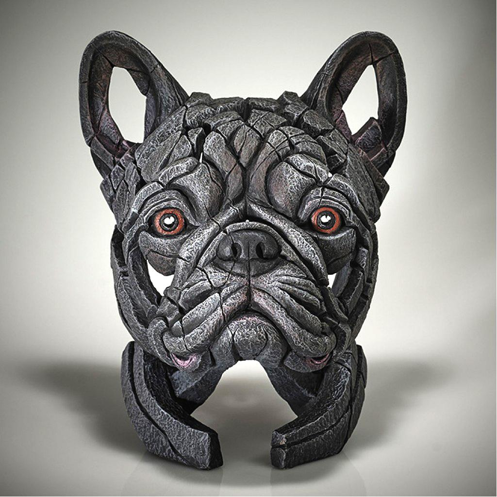 French Bulldog Bust - Blue - EDGE Sculpture EDB28BL