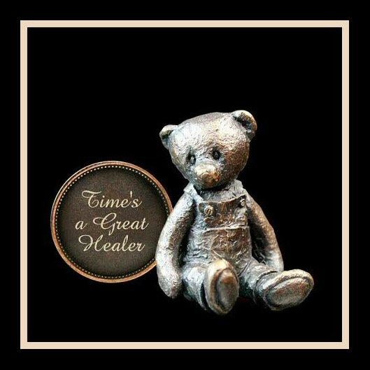 Time's a Great Healer (3012) - Penny Bear range of bronze sculptures