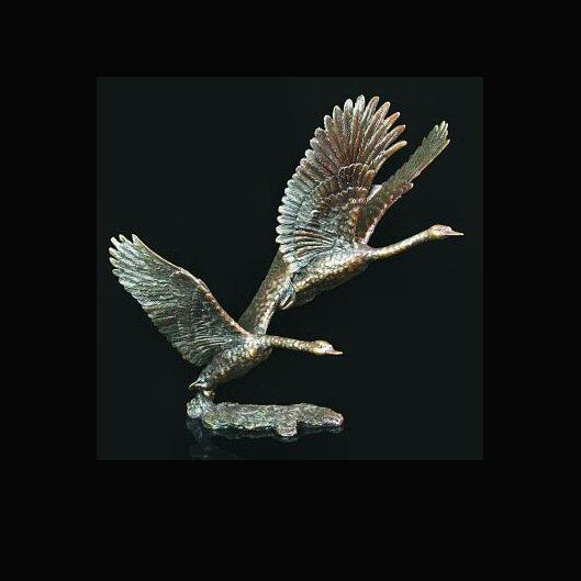 White Flight (346) - Bronze Sculpture by David Ivey