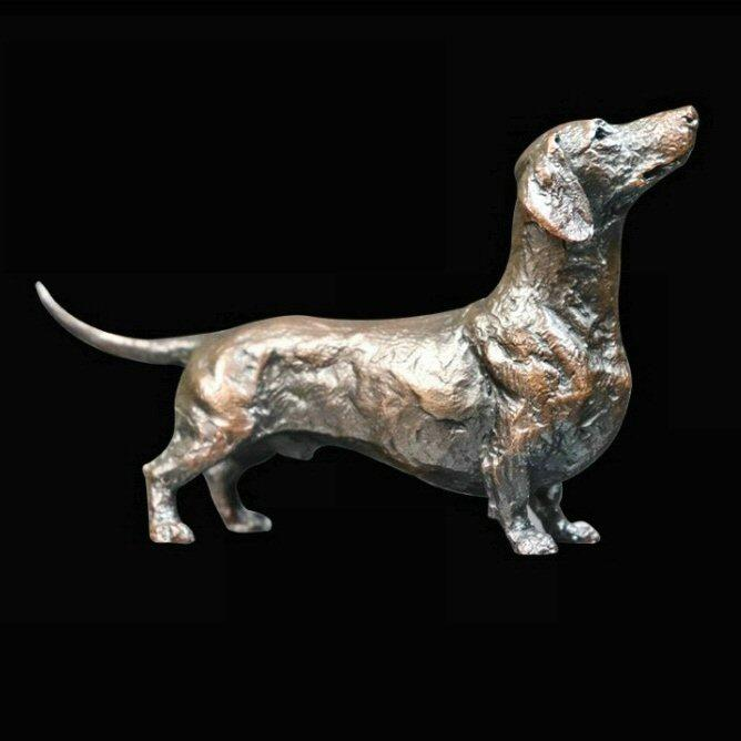 Dachshund - Bronze Dog Sculpture - Michael Simpson - 1054