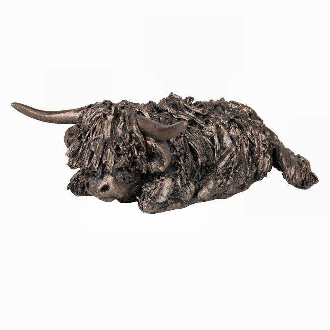 Morag Highland Cow - MINIMA Bronze Sculpture - Veronica Ballan VBM001