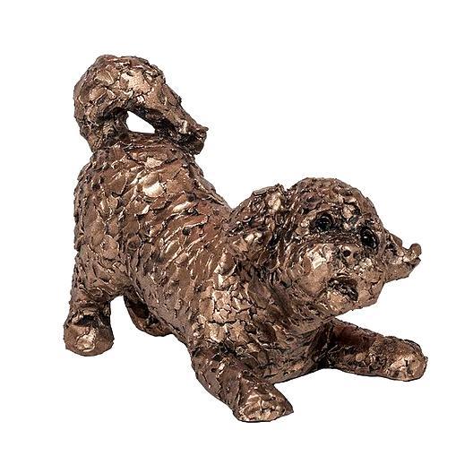 Frith Sculpture Shorty Bichon Frisé Chien par Adrian Tinsley Cold Cast Bronze-ATM001