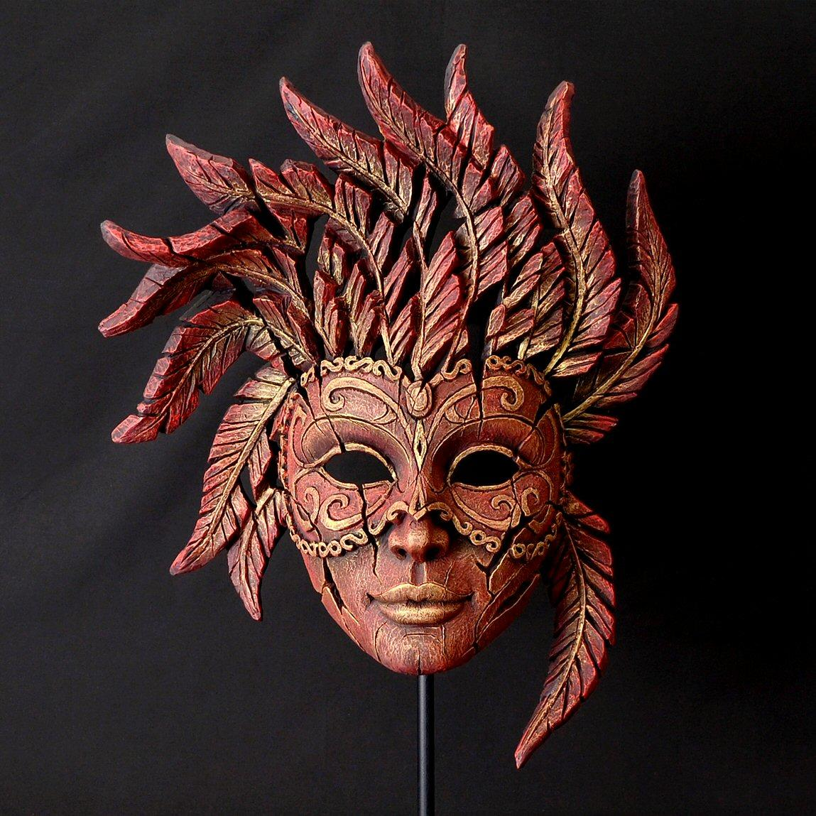 Venetian Carnival Mask - Red  EDM02R EDGE