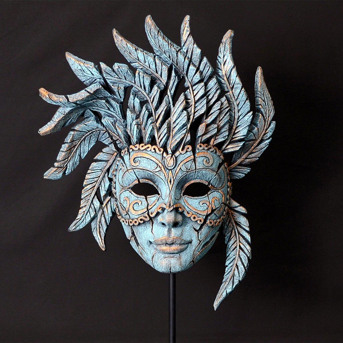 Venetian Carnival Mask - Teal EDM02T  EDGE by Matt Buckley