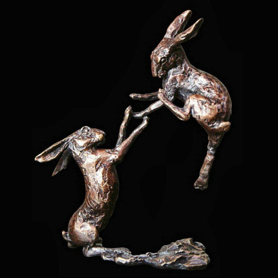 Boxing Hares (2012) by Butler and Peach