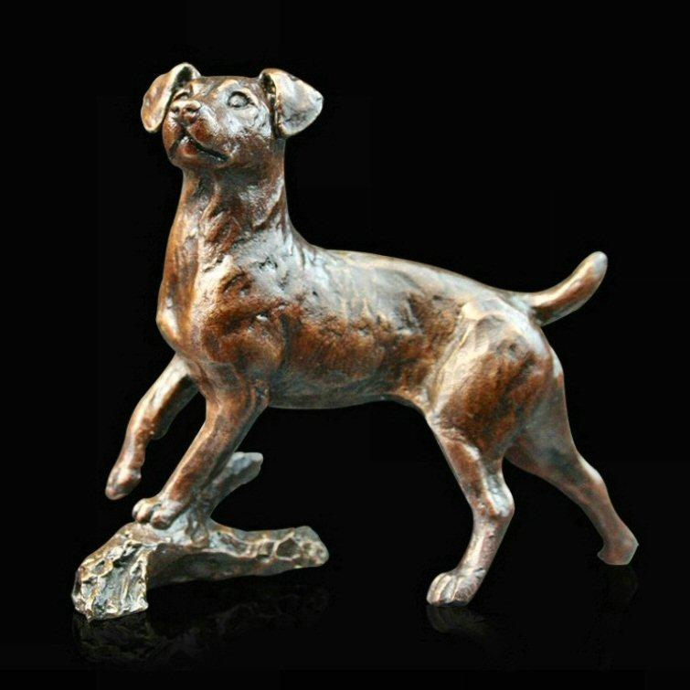Small Jack Russell (980) in bronze by Michael Simpson