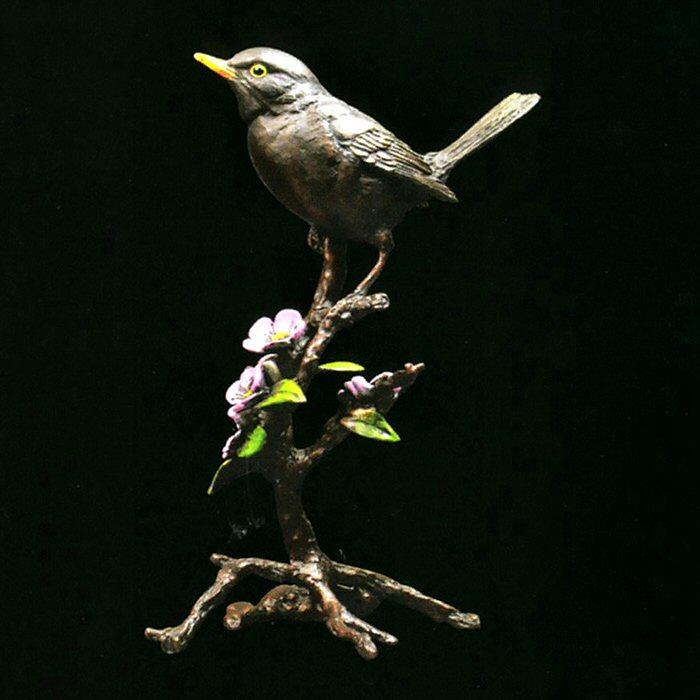 Blackbird with Blossom in presentation box (1046) by Keith Sherwin