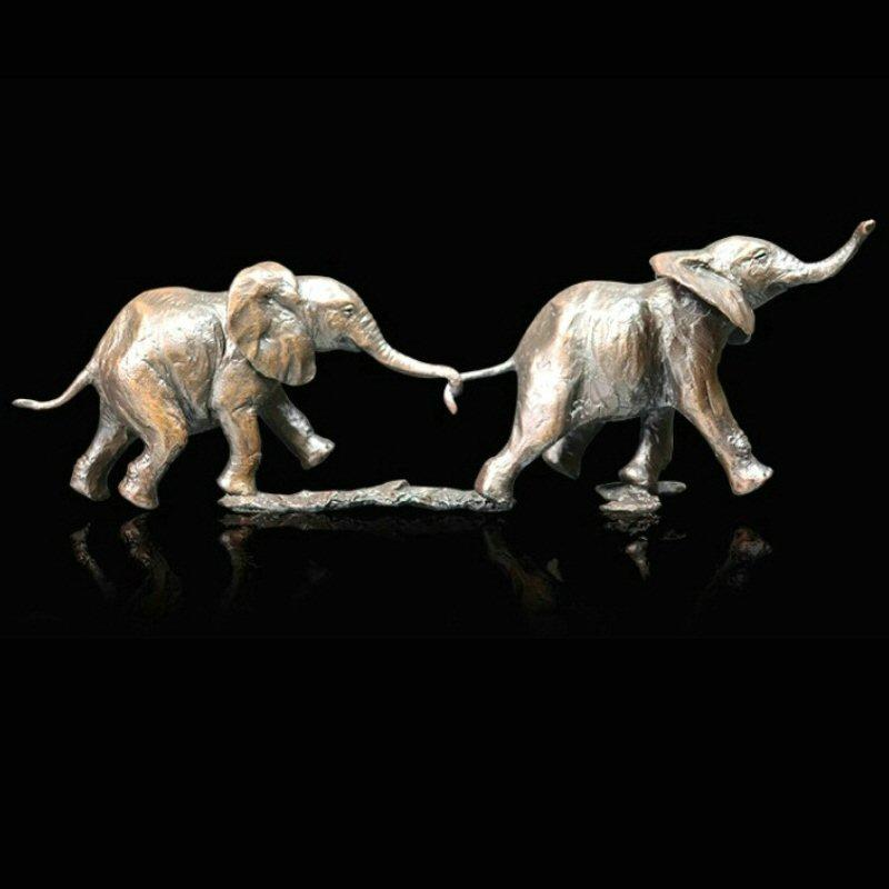Follow my Leader - Bronze Elephant Sculpture - Michael Simpson - 1055