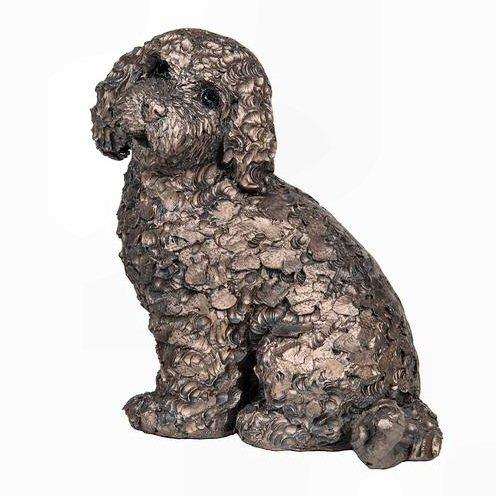Frith Cold Cast Bronze Barney Cockapoo Dog Sculpture By Adrian Tinsley