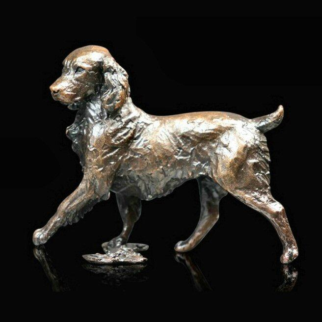 Springer Spaniel - Bronze Dog Sculpture - Michael Simpson - Small 1069