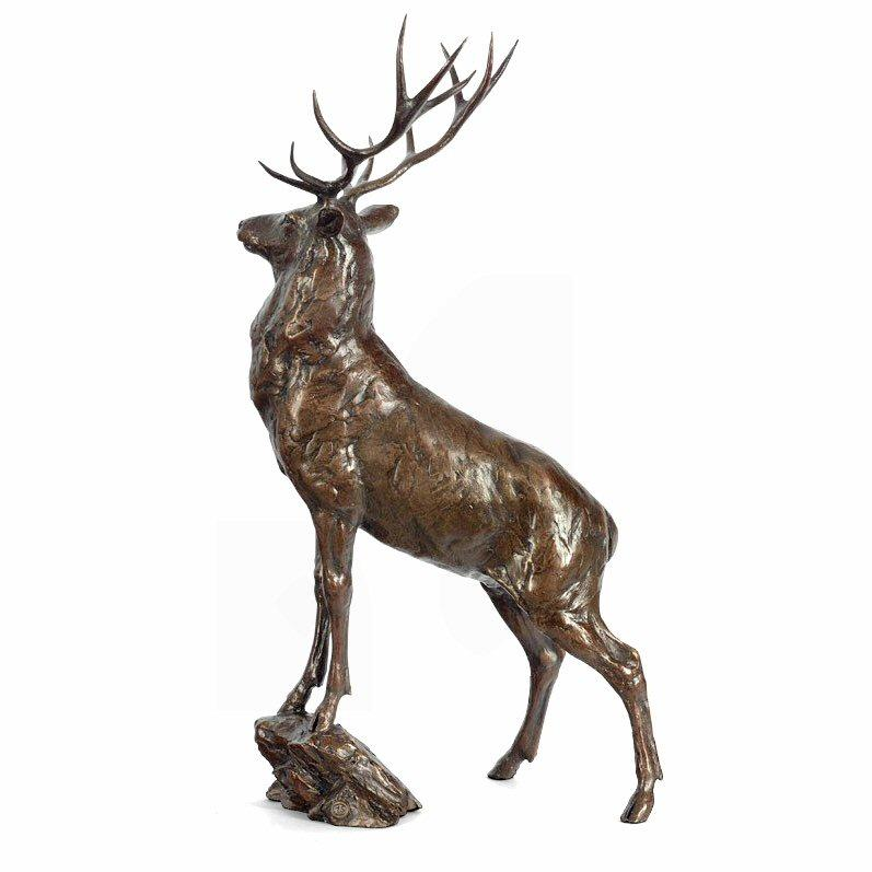 Monarch - Bronze Stag Sculpture by Michael Simpson - DeMontfort
