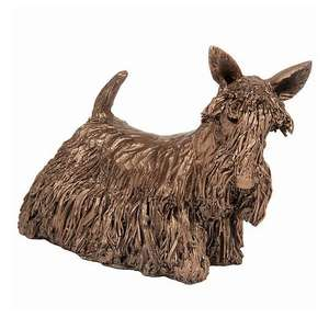 Bonnie the Scottie - Bronze Dog Sculpture - Veronica Ballan VB083