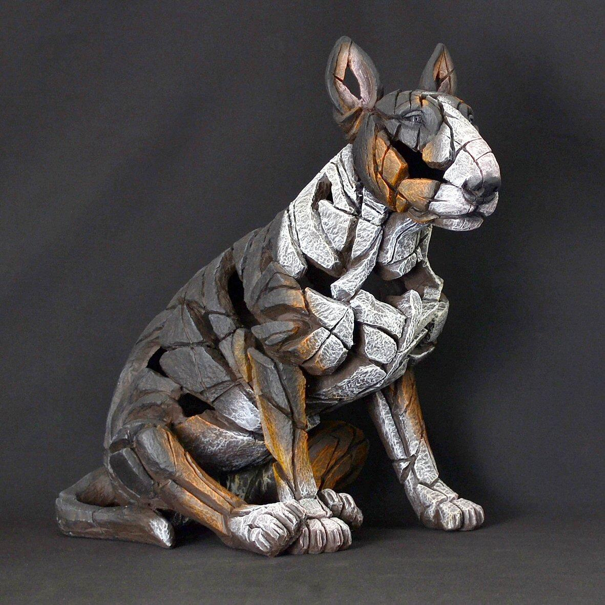 Bull Terrier Sitting - Tricolour ED23T EDGE by Matt Buckley