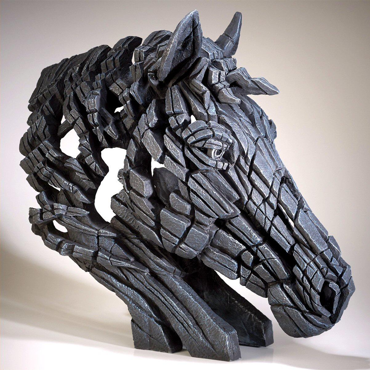 Horse Bust - Black EDB18K EDGE by Matt Buckley