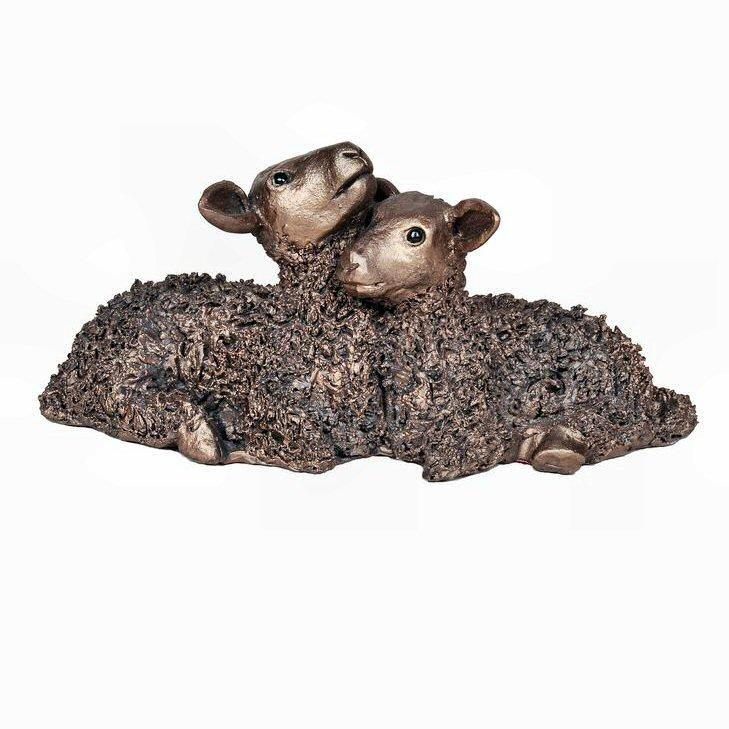 Twin Lambs - medium (VB062) by Veronica Ballan