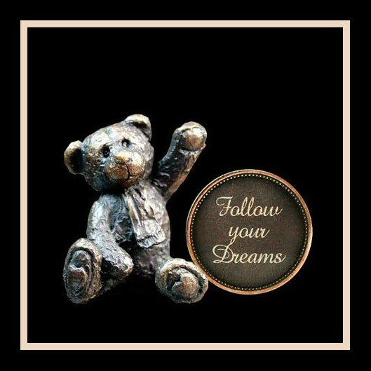 Follow Your Dreams (3008) - Penny Bear range of bronze sculptures