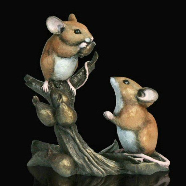 Mice with Rosehips (232BR) by Michael Simpson