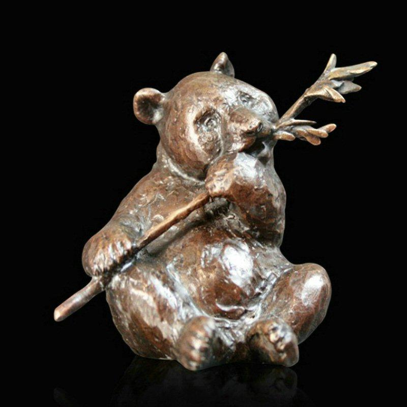 Panda (928) in bronze by Michael Simpson